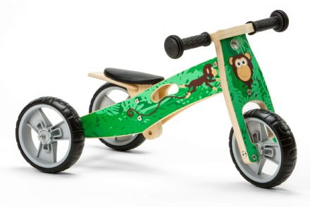 NIC813 Mini 2 in 1 Monkey Wooden Balance Bike Trike